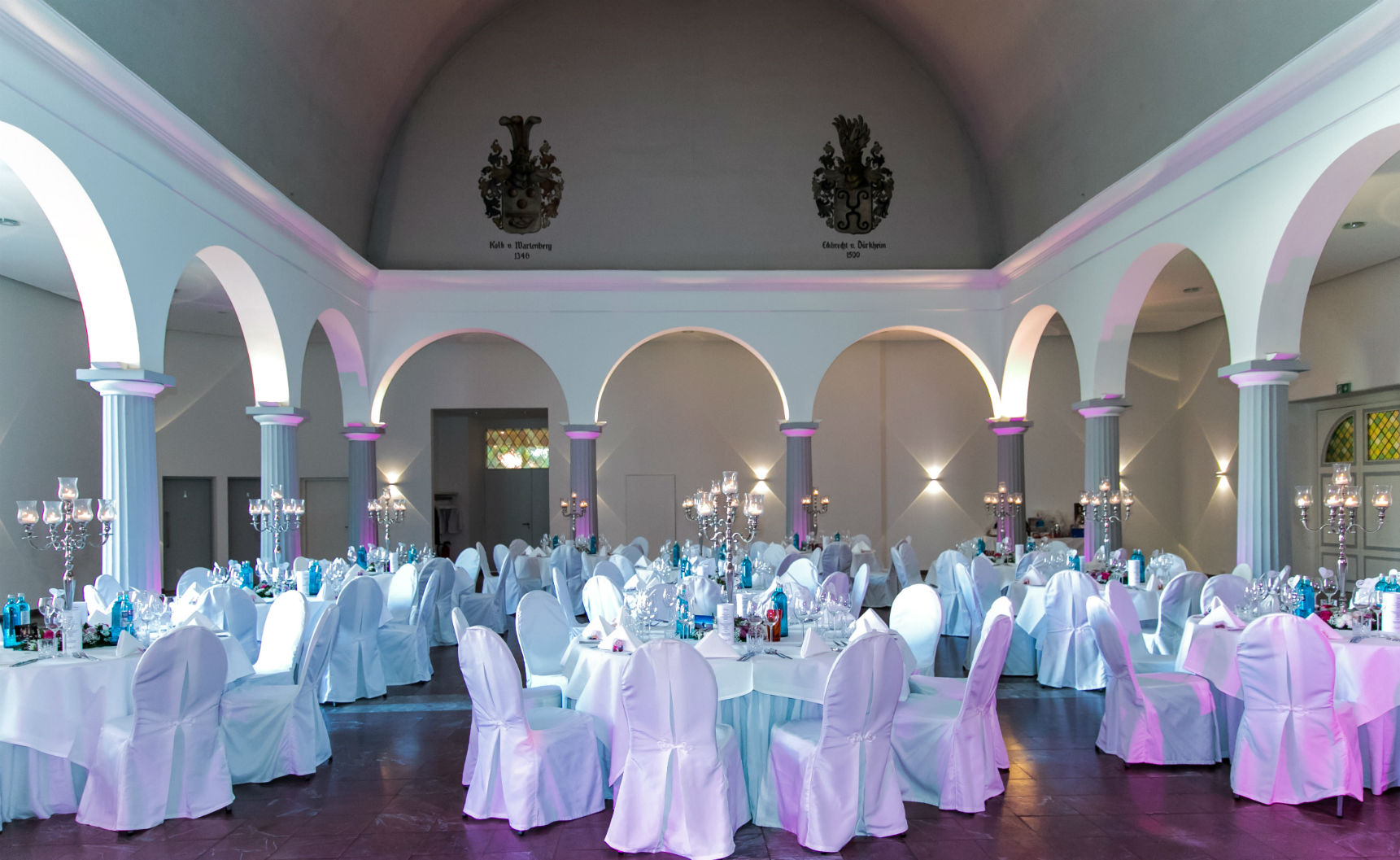 Der Marmorsaal der Sektkellerei Schloss Wachenheim