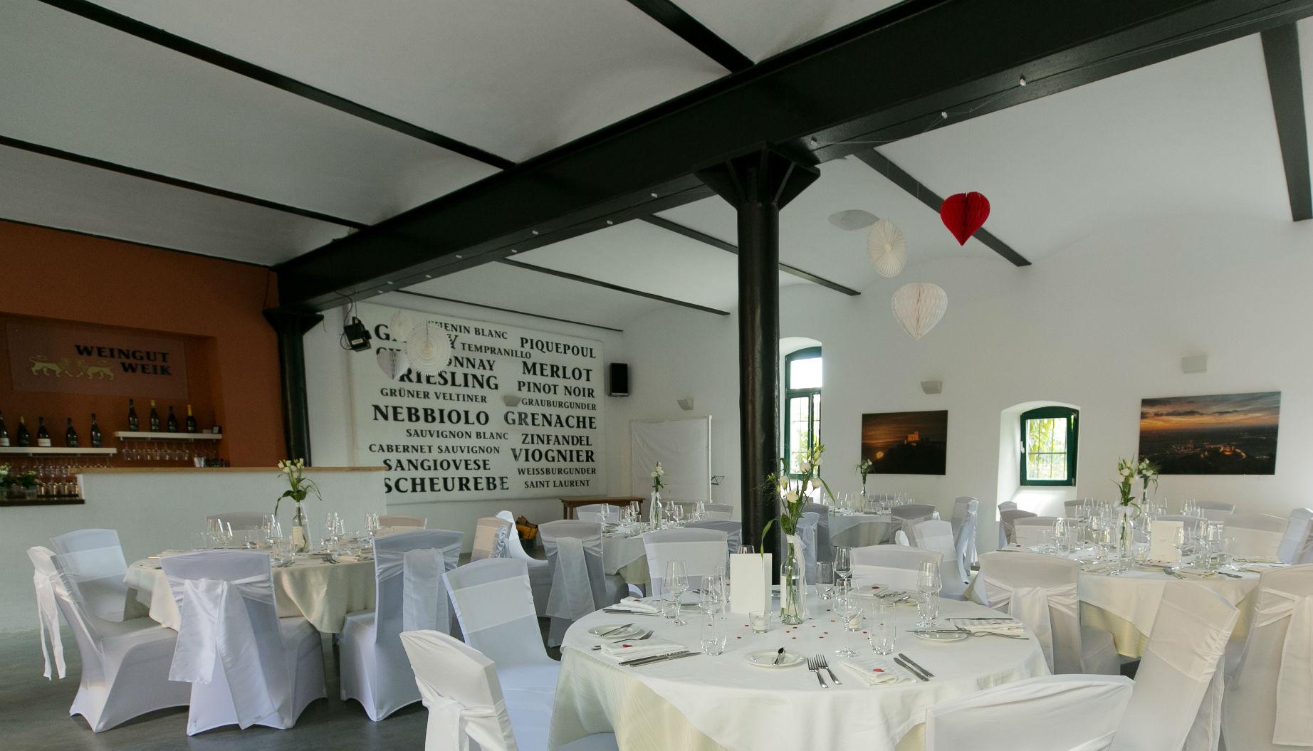 Heiraten Weingut Weik Hochzeitsfeier in Mußbach Pfalz